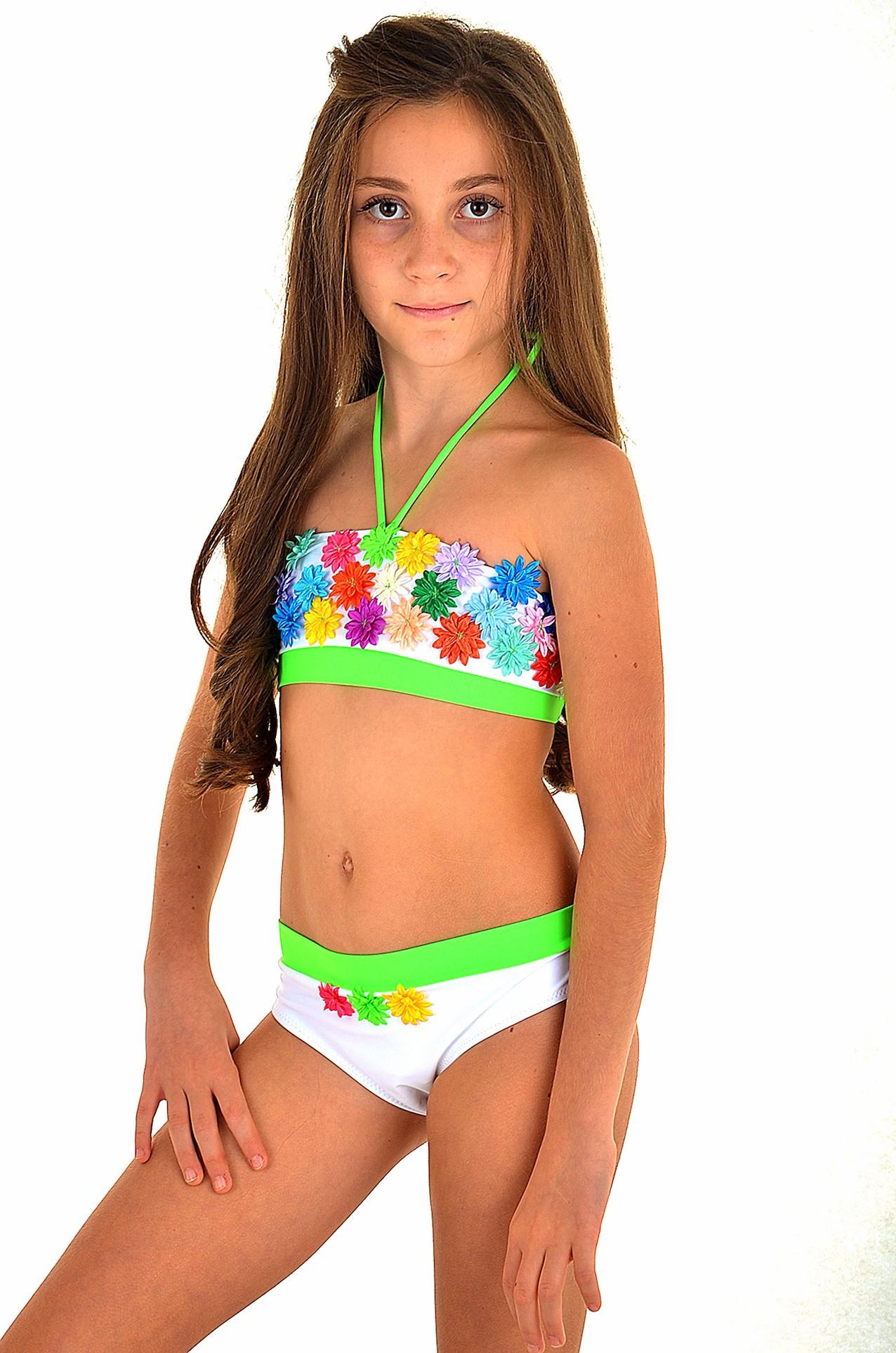 Разноцветный купальник для девочки цветами BAEL Радуга 5527 0f1b6b5007642