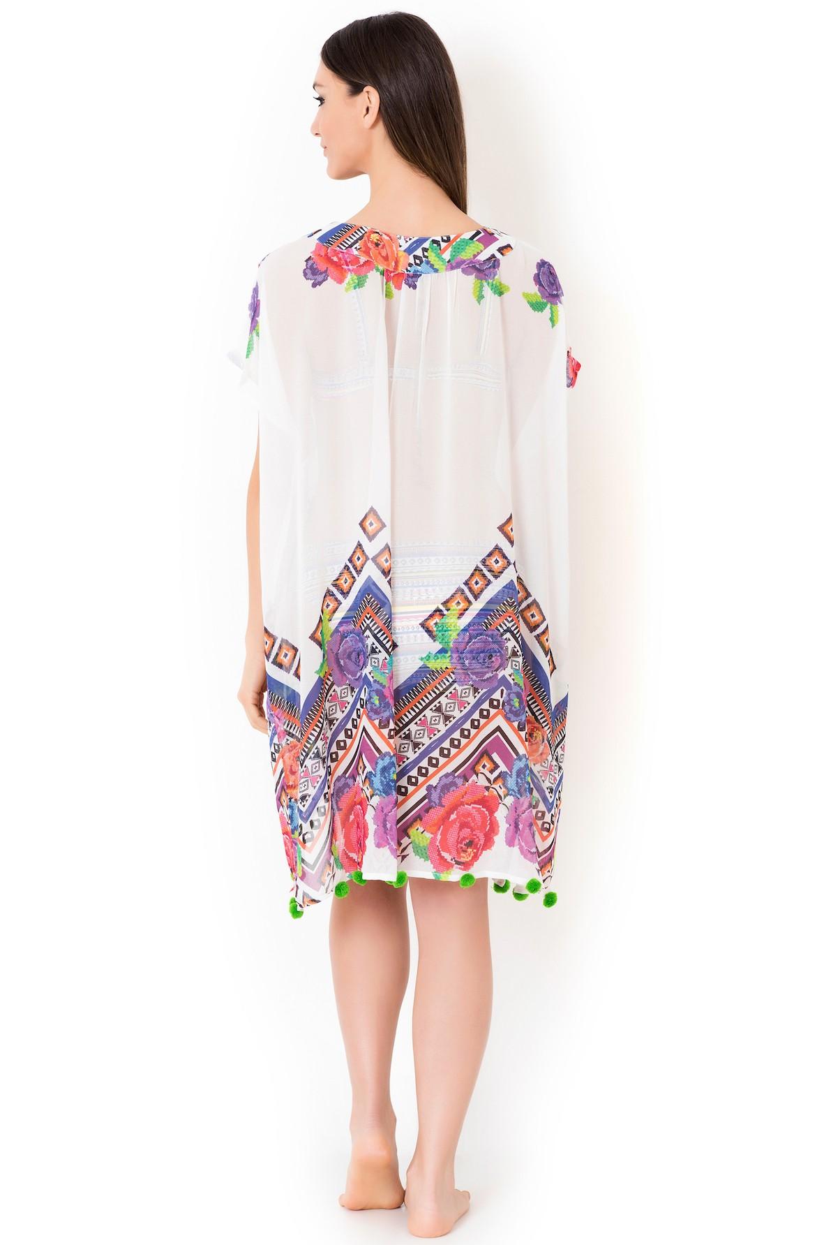 0e655c17ff1042a Белое пляжное платье для женщин Vacanze Italiane VI8-031 - фото №2